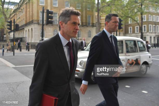 Britain's Defence Secretary and Gavin Williamson arrives at 10 Downing Street to attend a Cabinet meeting in London on April 30 2019