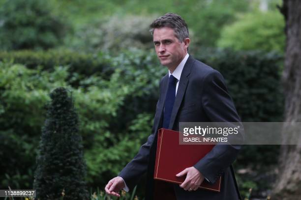 Britain's Defence Secretary Gavin Williamson arrives at 10 Downing Street to attend a Cabinet meeting in London on April 23 2019