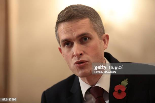 Britain's Defence Secretary Gavin Williamson attends a meeting with US Defence Secretary James Mattis at the Ministry of Defence in central London on...