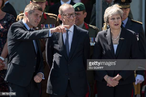 Britain's Defence Secretary Gavin Williamson Britain's Prime Minister Theresa May and her husband Philip attend the national Armed Forces Day...