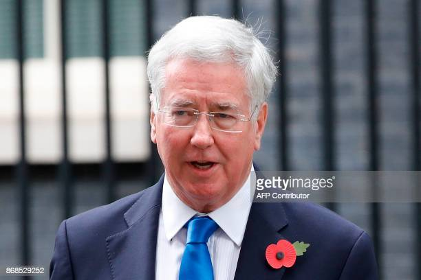 Britain's Defence Secretary Michael Fallon leaves 10 Downing Street after the weekly meeting of the cabinet in central London on October 31 2017 /...