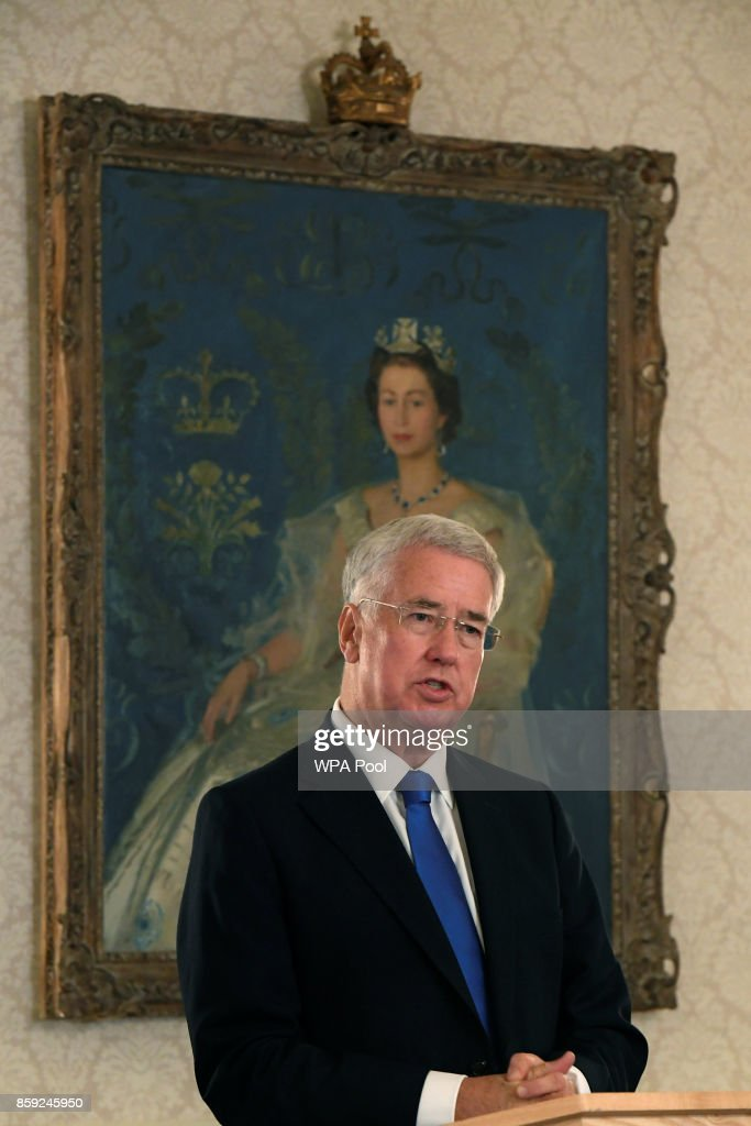 Britain's Defence Secretary, Michael Fallon speaks at an event on mental health at the Ministry of Defence (MoD) on October 9, 2017 in London, England.