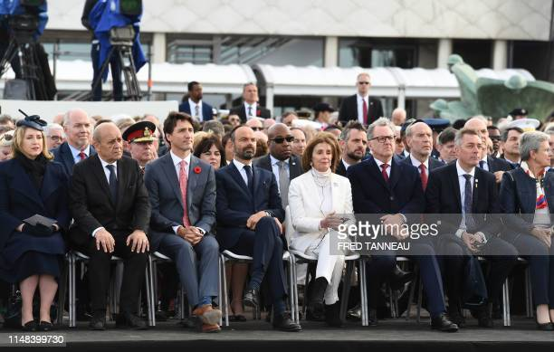 Britain's Defence Secretary Penny Mordaunt French Foreign Affairs Minister JeanYves Le Drian Canadian Prime Minister Justin Trudeau French Prime...