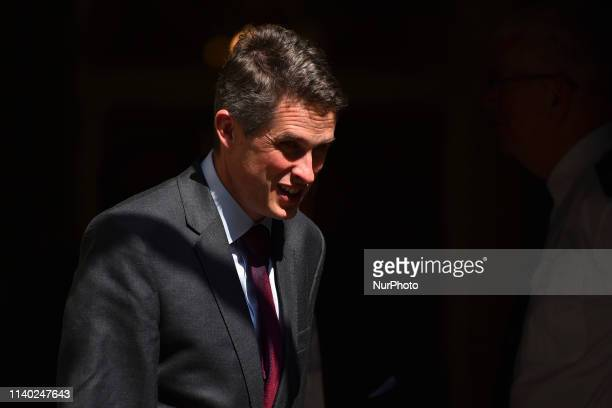 Britain's Defense Secretary Gavin Williamson leaves 10 Downing Street after attending a Cabinet meeting in London on April 30 2019