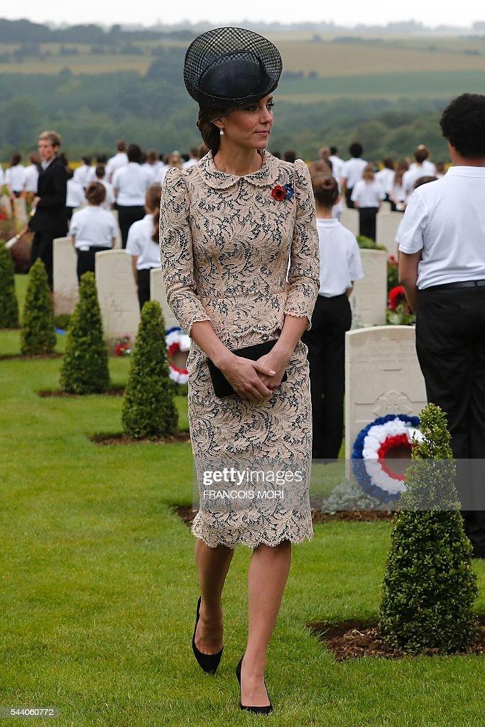 FRANCE-BRITAIN-HISTORY-WWI-ANNIVERSARY-MEMORIAL : Fotografia de notícias