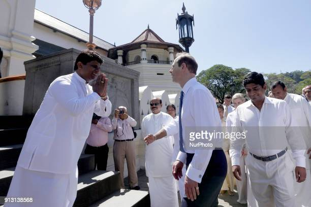 Britain's Earl of WessexPrince Edward arrives at Sacred Temple of the Tooth Relic at Kandy in the central part of the Sri Lanka on Thursday 01...
