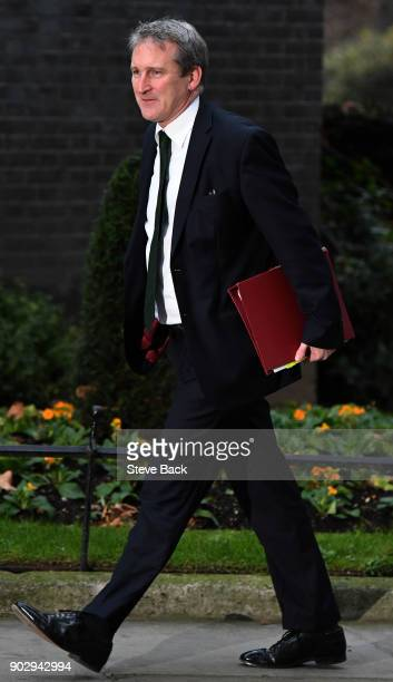 Britain's Education Secretary Damian Hinds arrives at 10 Downing street in central London for the first cabinet meeting of the new year following a...