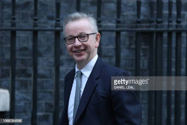 Britain's Environment Food and Rural Affairs Secretary Michael Gove attends the weekly meeting of the cabinet at 10 Downing Street in London on...