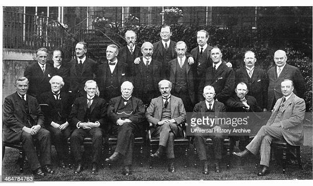 Britain's first Labour Cabinet 1924 From right to left seated are Arthur Henderson JH Thomas JR Clynes Ramsay Macdonald Haldane and Philip Snowden...