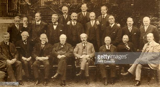 Britain's First Labour Government' . Back row: Sidney Webb, John Wheatley, FW Jowett; middle row: CP Trevelyan, Stephen Walsh, Lord Thomson, Lord...