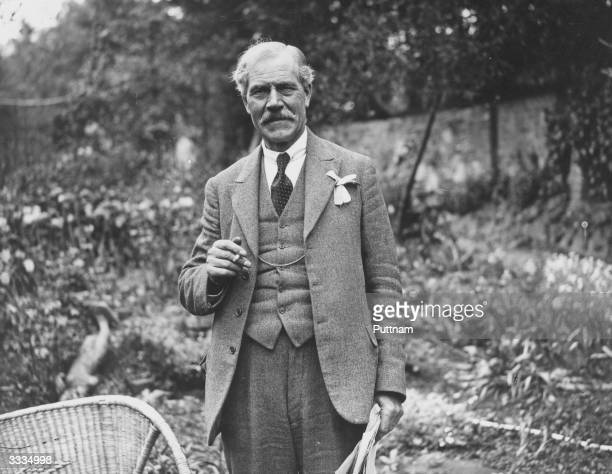 Britain's first Labour prime minister James Ramsay MacDonald about to form his second government following his party's General Election victory