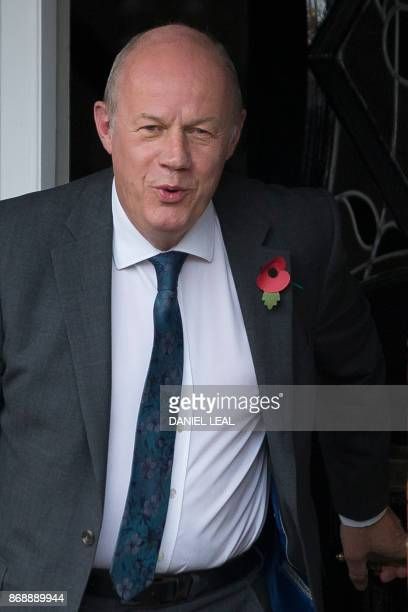 Britain's First Secretary of State Damian Green leaves his home in London on November 1 2017 One of British Prime Minister Theresa May's closest...