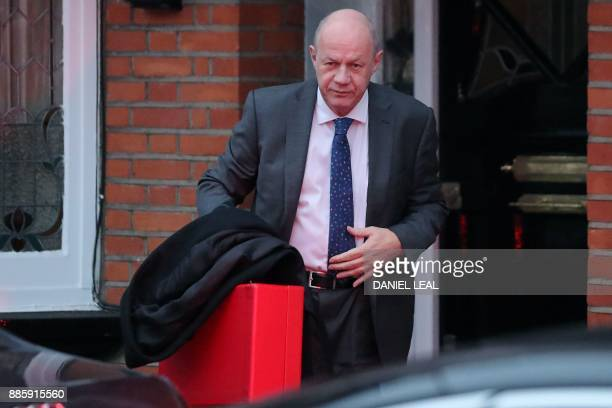 Britain's First Secretary of State Damian Green leaves his home in London on December 5 2017 Britian's Prime Minister Theresa May's government has...