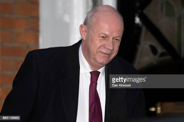 Britain's First Secretary of State Damian Green leaves his home on December 4 2017 in London England Investigations are under way into allegations...