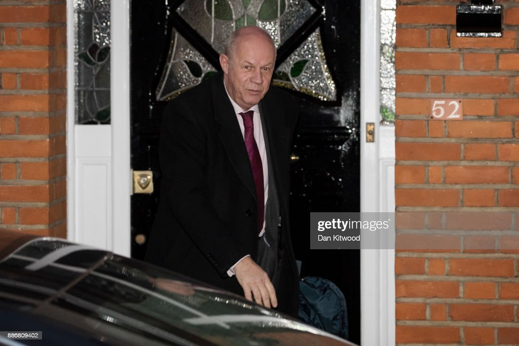 Britain's First Secretary of State Damian Green Leaves His Home In London
