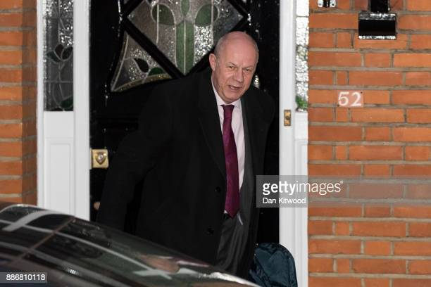 Britain's First Secretary of State Damian Green leaves his home on December 6 2017 in London England Investigations are under way into allegations...