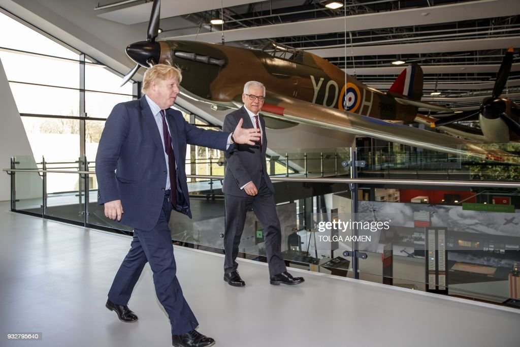 Boris Johnson Hosts His Polish Counterpart At The Battle Of Britain Bunker