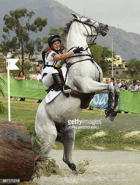 Britain's Gemma Tattersall on Quicklook V competes during the Eventing's Individual Cross Country of the Equestrian during the 2016 Rio Olympic Games...
