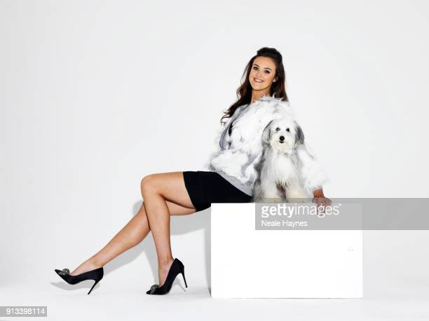 Britain's Got Talent 2012 winner dog trainer Ashleigh Butler is photographed with her dog Sully for the Daily Mail on October 3 2017 in London England
