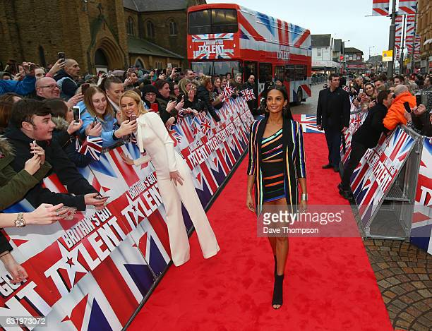 Britain's Got Talent judges Amanda Holden and Alesha Dixon arrive for the Blackpool auditions for 'Britain's Got Talent' at The Opera House on...