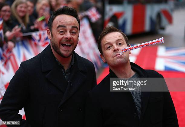 Britain's Got Talent presenters Anthony McPartlin left and Declan Donnelly arrive for the Blackpool auditions for 'Britain's Got Talent' at The Opera...