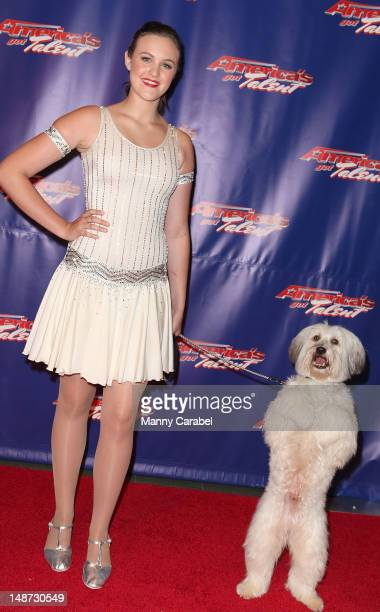 Britains Got Talent winner Ashley Pugsley attend America's Got Talent Post Show Red Carpet at New Jersey Performing Arts Center on July 18 2012 in...