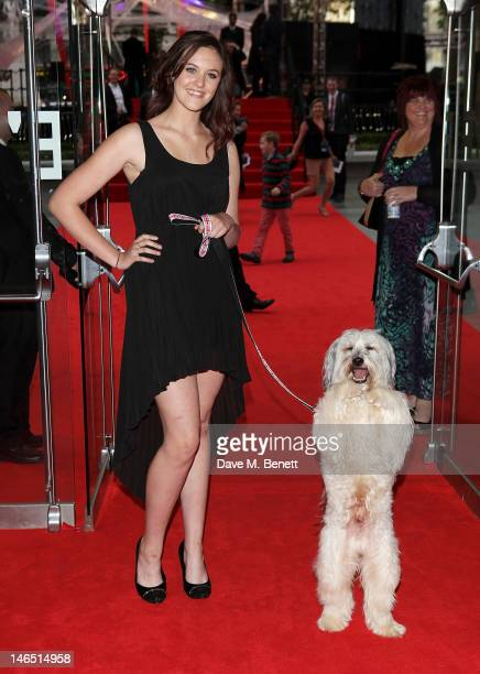 Britain's Got Talent winners Ashleigh Butler and Pudsey arrive at the UK Premiere of 'The Amazing SpiderMan' at Odeon Leicester Square on June 18...