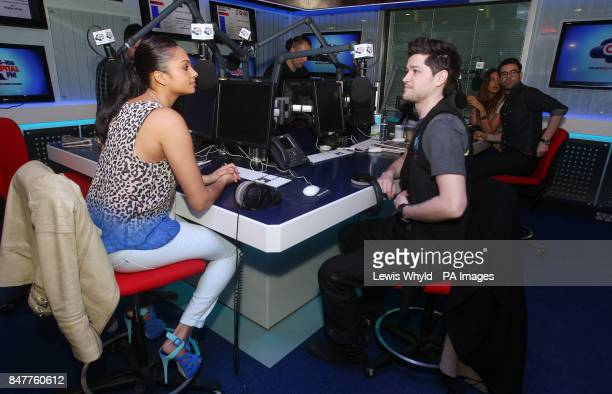 Britain's Got Talent's Alesha Dixon and The Voice's Danny O'Donoghue at the Capital Radio studios in London where they appeared on London's Capital...