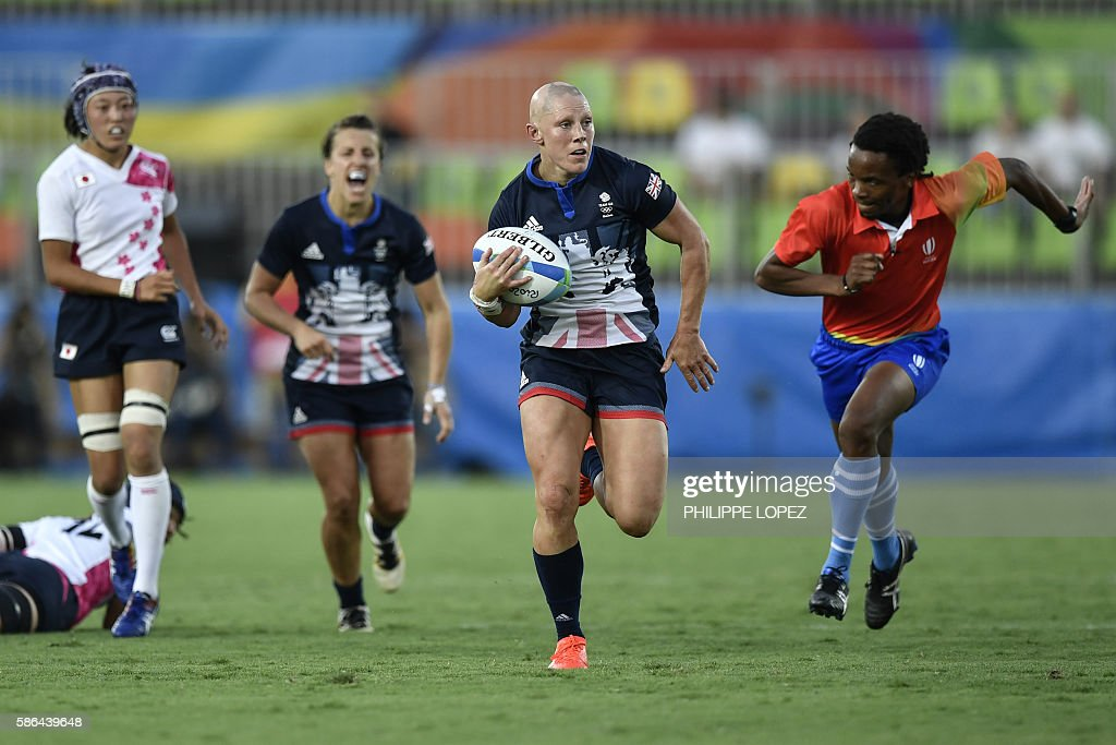 RUGBY7-OLY-2016-RIO-GBR-JPN : News Photo