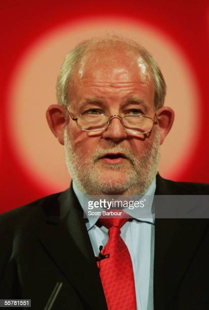 Britain's Home Secretary, Charles Clarke, speaks during the annual Labour Party Conference on September 27, 2005 in Brighton, England. The governing...