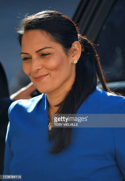 Britain's Home Secretary Priti Patel arrives to attend a Cabinet meeting of senior government ministers at the Foreign and Commonwealth Office in...