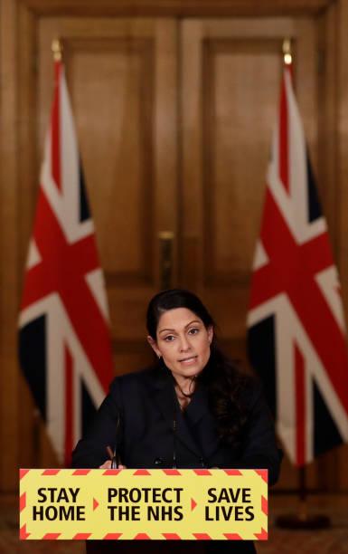 GBR: Priti Patel Hosts Downing Street Virtual Coronavirus Press Conference