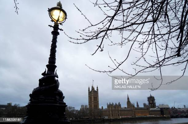 Britain's Houses of Parliament, comprising the House of Lords and House of Commons is pictured in central London on December 13 following the result...