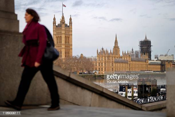Britain's Houses of Parliament incorporating the House of Lords and the House of Commons is pictured in central London on December 16 2019 Prime...
