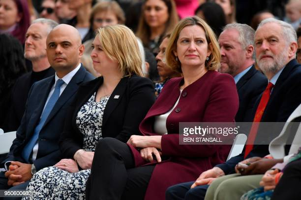 Britain's Housing Communities and Local Government Secretary Sajid Javid Britain's Northern Ireland Secretary Karen Bradley Britain's Home Secretary...