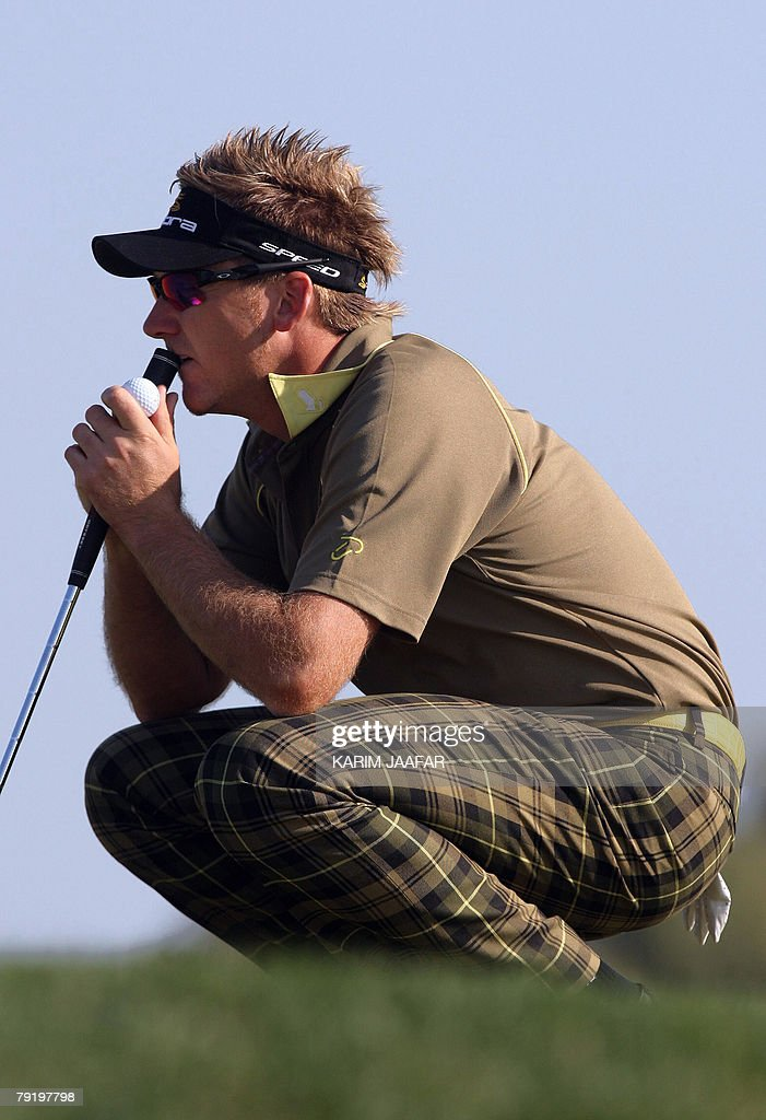 Britain's Ian Poulter takes part in the Qatar Masters Golf Tournament, 24 January 2008 in Doha. The 2.5-million-dollar Qatar Masters has grown in stature over the last few years and taken its central role in what has become known as the 'Desert Swing' which includes the Abu Dhabi Golf Championship and the Dubai Desert Classic.