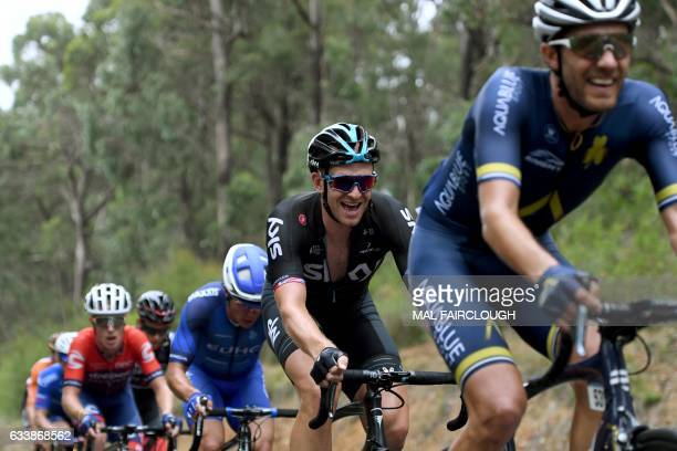 Britain's Ian Stannard of Team Sky takes part in stage four of the 2017 Herald Sun Tour cycling race in Melbourne on February 5 2017 / AFP / Mal...