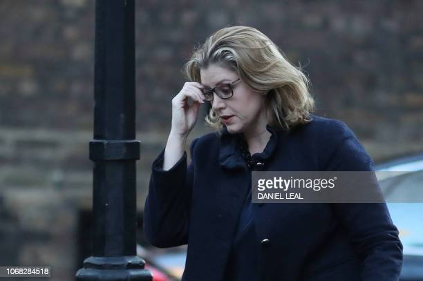 Britain's International Development Secretary and Minister for Women and Equalities Penny Mordaunt attends the weekly meeting of the cabinet at 10...