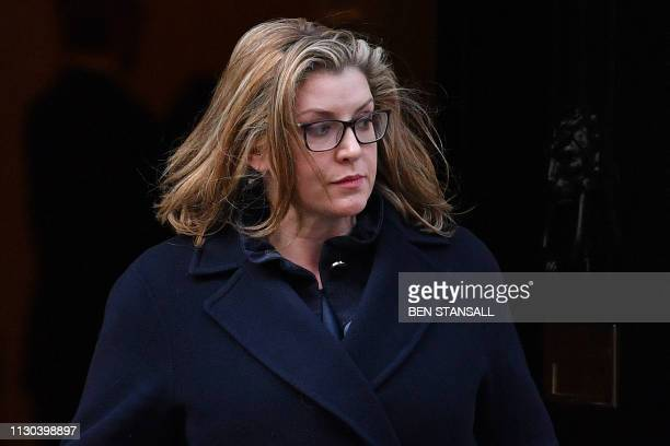 Britain's International Development Secretary and Minister for Women and Equalities Penny Mordaunt leaves after attending a Cabinet meeting at 10...