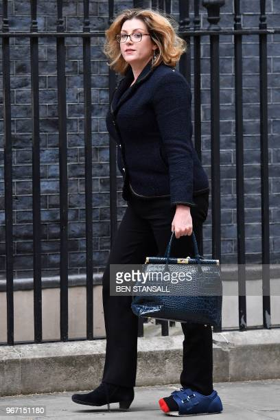 Britain's International Development Secretary and Minister for Women and Equalities Penny Mordaunt arrives at 10 Downing Street in central London on...