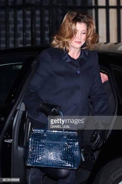Britain's International Development Secretary Penny Mordaunt arrives at 10 Downing street in London on January 8 2018 British Prime Minister Theresa...