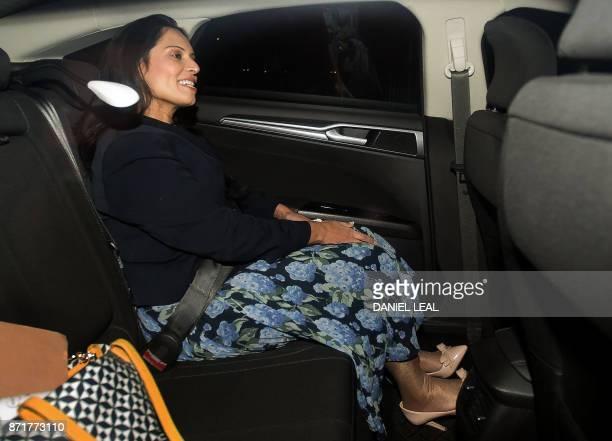 Britain's International Development Secretary Priti Patel leaves no 10 Downing Street in London on November 8 Britain's International Development...