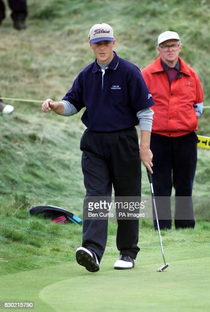 Britain's Jon Bevan on the 1st green during the first day of the 1999 British Open Golf Championship at Carnoustie Scotland