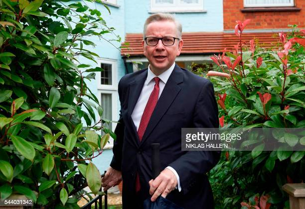 Britain's Justice Minister Michael Gove leaves his home in London on July 1 2016 A bespectacled intellectual with a lowkey public image Michael Gove...