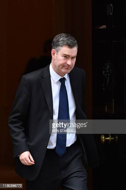 Britain's Justice Secretary and Lord Chancellor David Gauke leaves after attending a Cabinet meeting at 10 Downing Street in London on March 14 ahead...