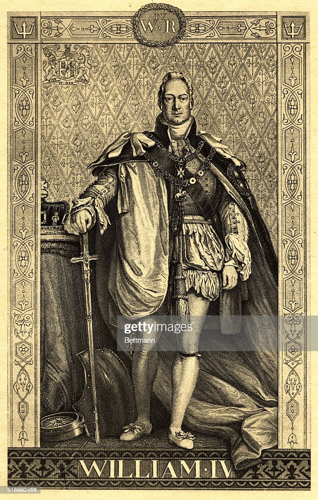 Britain's King William IV in Royal Robes : News Photo