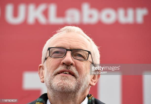 Britain's Labour Party leader Jeremy Corbyn attends a general election campaign event in Stainton Village near Middlesbrough north east England on...
