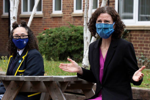 GBR: Annelise Dodds Visits School In Croydon To Speak About The Public Sector Pay Freeze