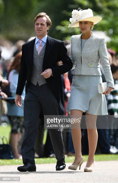 Britain's Lady Gabriella Windsor attends the wedding of Pippa Middleton and James Matthews at St Mark's Church in Englefield, west of London, on May...