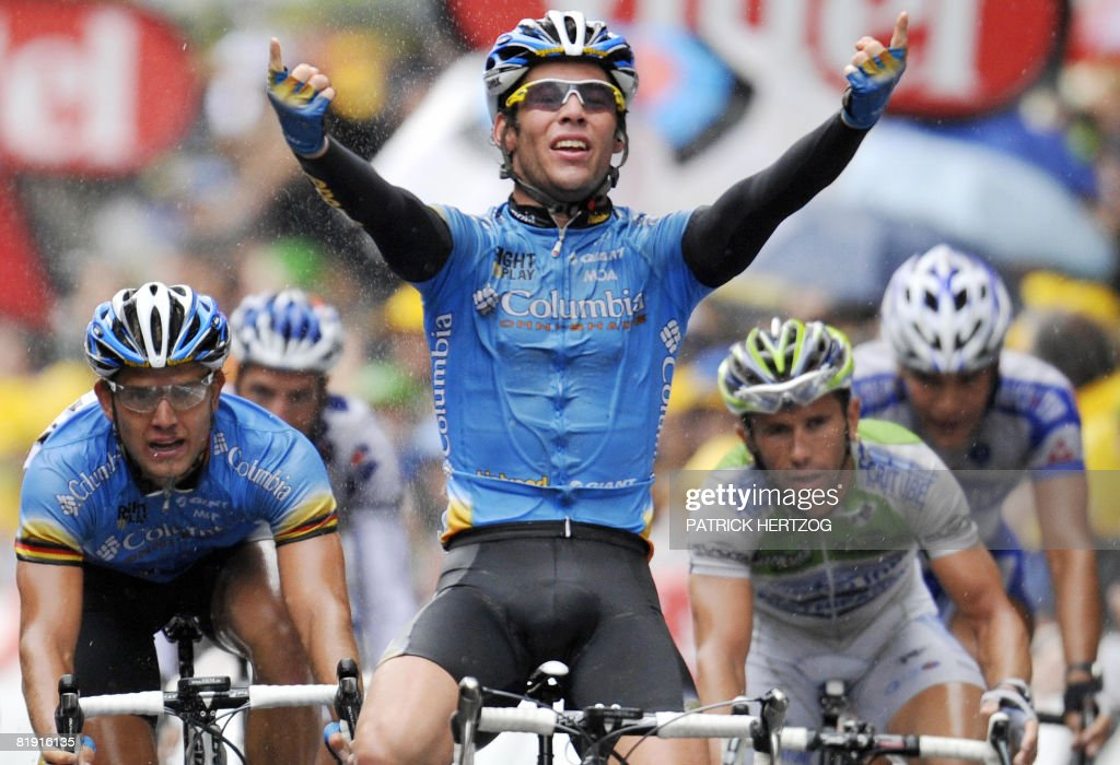 Britain's Mark Cavendish (C) (Columbia - : Nachrichtenfoto